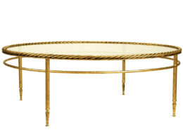2-tier rope twist round coffee table - CT24F
