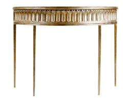 Ribbed Apron Demi-Lune Console Table CON26