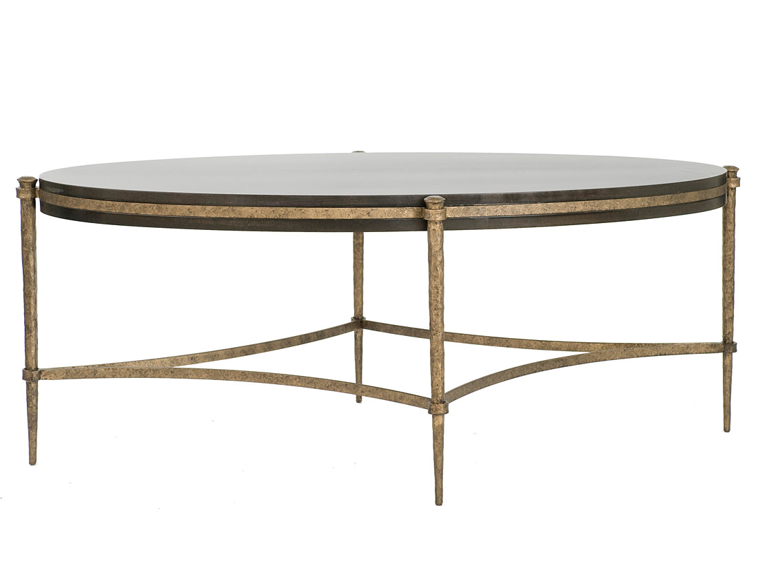 Tangier Oval Coffee Table CT121 with ebony