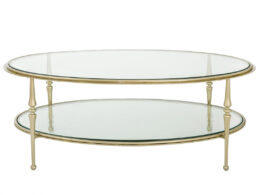 Spindle-Oval-Coffee-Table-2-tier CT33A