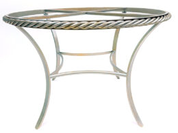 """Rope Twist Dining Table 42"""" DT24B"""
