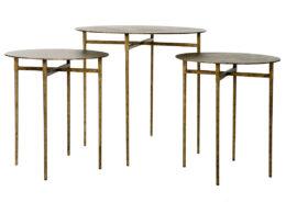 Minnie Metal Top End Tables OCC75B