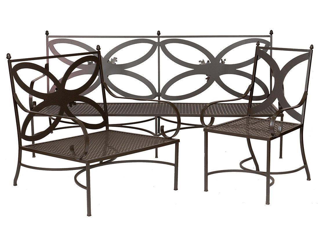 Oak Leaf Acorn Dining Chairs, Club Chairs, and Loveseat