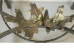 Oak leaf and acorn cluster detail